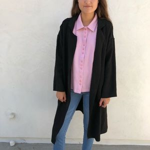 Black trench coat with pockets